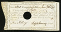 Colonial Notes:Connecticut, Connecticut Interest Certificate 5 Shillings January 10, 1791Anderson CT-50 Choice About Uncirculated, HOC.. ...