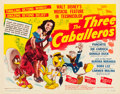 "Movie Posters:Animation, The Three Caballeros (RKO, 1945). Half Sheet (22"" X 28"") Style A.. ..."