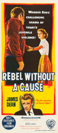 "Movie Posters:Drama, Rebel without a Cause (Warner Brothers, 1955). Australian Daybill(13.25"" X 30"").. ..."