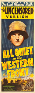 "Movie Posters:Academy Award Winners, All Quiet on the Western Front (Universal, R-1939). Insert (14"" X36"").. ..."