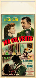 "Movie Posters:Academy Award Winners, Gone with the Wind (MGM, R-1950s). Italian Locandina (12.5"" X 27.25"").. ..."