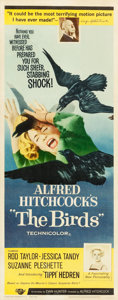 "Movie Posters:Hitchcock, The Birds (Universal, 1963). Insert (14"" X 36"").. ..."