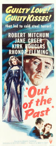 "Movie Posters:Film Noir, Out of the Past (RKO, R-1953). Insert (14"" X 36"").. ..."