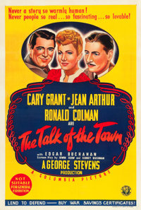 """The Talk of the Town (Columbia, 1942). Australian One Sheet (27"""" X 40"""")"""