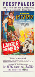 "Movie Posters:Swashbuckler, The Sea Hawk (Warner Brothers, Late 1940). First Post-War Belgian (14"" X 31"").. ..."