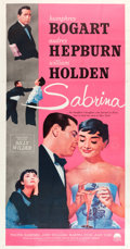 "Movie Posters:Romance, Sabrina (Paramount, R-1962). Three Sheet (41"" X 79"").. ..."