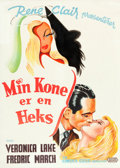 """Movie Posters:Fantasy, I Married a Witch (United Artists, 1946). Danish One Sheet (24"""" X 33.5"""").. ..."""