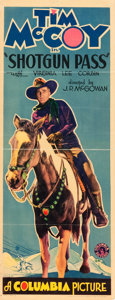 """Movie Posters:Western, Shotgun Pass (Columbia, 1931). Insert (14"""" X 36"""") Style A.. ..."""