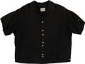 Music Memorabilia:Costumes, Buddy Holly Personally-Owned and Worn Black Silk Shirt. ...