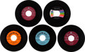 Music Memorabilia:Recordings, Buddy Holly 45 Group of 5 (1957-64).... (Total: 5 Items)