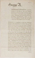 Miscellaneous:Broadside, [George III] Printed Broadside Revoking Letters of Marque AgainstFrance and Spain....