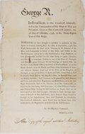 Miscellaneous:Broadside, [George III] Printed Broadside....