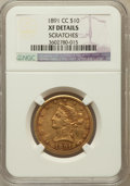 Liberty Eagles, 1891-CC $10 -- Scratches -- NGC Details. XF. NGC Census: (23/2326).PCGS Population (42/1971). Mintage: 103,732. Nu...