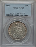 Bust Half Dollars: , 1819 50C XF45 PCGS. PCGS Population (63/251). NGC Census: (57/309).Mintage: 2,208,000. Numismedia Wsl. Price for problem f...