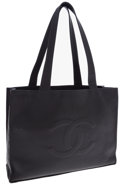 Luxury Accessories:Bags, Chanel Large Black Caviar Leather Classic Tote Bag. ...