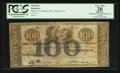Obsoletes By State:Louisiana, New Orleans, LA- The Bank of Louisiana $100 May 22, 1862 G24b. ...