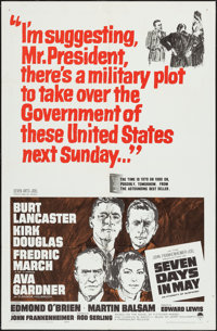 """Seven Days in May (Paramount, 1964). One Sheet (27"""" X 41""""). Thriller"""