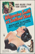 "Movie Posters:Mystery, Whispering Smith vs. Scotland Yard (RKO, 1952). One Sheet (27"" X41""). Mystery.. ..."