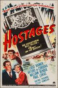 "Movie Posters:War, Hostages (Paramount, 1943). One Sheet (27"" X 41""). War.. ..."