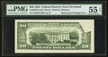 Error Notes:Obstruction Errors, Fr. 2079-D $20 1993 Federal Reserve Note. PMG About Uncirculated 55EPQ.. ...