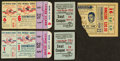 Baseball Collectibles:Tickets, 1938-51 Yankee Stadium Ticket Stubs Lot of 5 - With Two from 1951World Series....