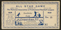 Baseball Collectibles:Tickets, 1939 Cooperstown All Star Game Exhibition Ticket....