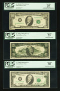 Error Notes:Error Group Lots, Fr. 2024-B $10 1977A Federal Reserve Note. PCGS Apparent Very Fine25; Fr. 2024-J $10 1977A Federal Reserve Note. PCGS Very Fi...(Total: 3 notes)
