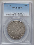 Bust Half Dollars: , 1827/6 50C XF40 PCGS. PCGS Population (23/147). NGC Census: (3/78).Numismedia Wsl. Price for problem free NGC/PCGS coin i...