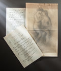 Paintings, LETTERS FROM RENOIR'S DEALER, AMBROISE VOLLARD TO RENOIR. THE RENOIR COLLECTION. ... (Total: 4 Items)