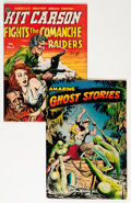 Golden Age (1938-1955):Horror, Amazing Ghost Stories #14/Kit Carson #3 Group (St. John/Avon,1951-54).... (Total: 2 Comic Books)