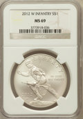 Modern Issues, 2012-W $1 Infantry MS69 NGC. PCGS Population (182/284). NumismediaWsl. Price for problem free NGC/PCGS...