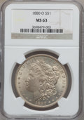 Morgan Dollars: , 1880-O $1 MS63 NGC. NGC Census: (1900/1047). PCGS Population(2278/1267). Mintage: 5,305,000. Numismedia Wsl. Price for pro...