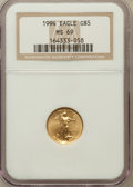 Modern Bullion Coins: , 1994 G$5 Tenth-Ounce Gold Eagle MS69 NGC. NGC Census: (1541/335).PCGS Population (883/7). Mintage: 206,380. Numismedia Wsl...