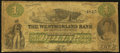 Canadian Currency: , Moncton, NB- The Westmoreland Bank of New Brunswick $1 Aug. 1, 1861Ch. # 800-12-02. ...