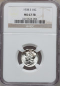 Mercury Dimes: , 1938-S 10C MS67 Full Bands NGC. NGC Census: (65/7). PCGS Population(116/6). Mintage: 8,090,000. Numismedia Wsl. Price for ...