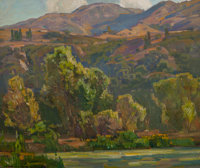 WILLIAM WENDT (American, 1865-1946) Mid-Summer Oil on canvas 25 x 30 inches (63.5 x 76.2 cm) S