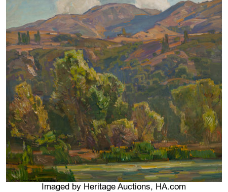 WILLIAM WENDT (American, 1865-1946) Mid-Summer Oil on canvas 25 x 30 inches (63.5 x 76.2 cm) Signed lower left: Wi...