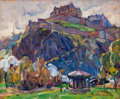 Paintings, E. CHARLTON FORTUNE (American, 1885-1969). Edinburgh Castle, 1928. Oil on board. 13 x 16 inches (33.0 x 40.6 cm). Signed...