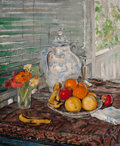 Paintings, CLARENCE K. HINKLE (American, 1880-1960). Still Life. Oil on canvas. 36 x 30 inches (91.4 x 76.2 cm). Signed lower left:...