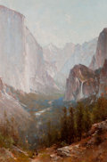 American:Western, THOMAS HILL (American, 1829-1908). Yosemite, 1889. Oil oncanvas. 24 x 16 inches (61.0 x 40.6 cm). Signed and dated lowe...