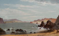 Fine Art - Painting, American:Antique  (Pre 1900), EDWIN DEAKIN (American, 1838-1923). Fort Point, SanFrancisco, 1876. Oil on canvas. 16 x 26 inches (40.6 x 66.0cm). Sig...