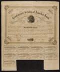 Confederate Notes:Group Lots, Ball 220 Cr. 121A $500 1863 Bond Fine-Very Fine.. ...