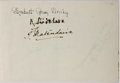 "Autographs:Non-American, Post-WWII Autograph Book Compiled in Occupied Japan, Circa1949-1950. 8.75"" x 5.25"", bound in the Japanese style. Containsm..."