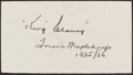 Hockey Collectibles:Others, King Clancy Signed Cut Signature....
