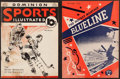 Hockey Collectibles:Publications, Mid 1930's and 1954 Hockey Magazines Lot of 2....