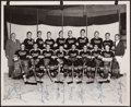 Hockey Collectibles:Photos, 1950's Chatham Maroons Team Signed Photograph....