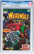 Bronze Age (1970-1979):Horror, Werewolf by Night #34 (Marvel, 1975) CGC VF/NM 9.0 Off-white towhite pages....