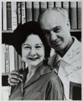 """Autographs:Authors, American Author Irwin Stone Autographed Photograph. 8"""" x 10"""" black and white photograph of Stone and his wife, signed by bot..."""