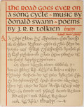Books:Literature 1900-up, J. R. R. Tolkien. The Road Goes Ever On. Houghton MifflinCompany, 1967. First printing. Music by Donald Swain. ...
