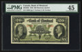 Canadian Currency: , Montreal, PQ- The Bank of Montreal $20 Jan. 3, 1938 Ch. #505-62-06. ...